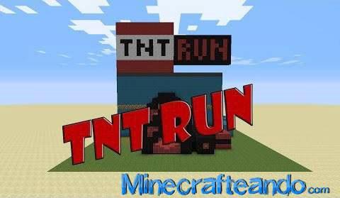 Tnt run map es un mini juego en el que consiste correr y no pisar una
