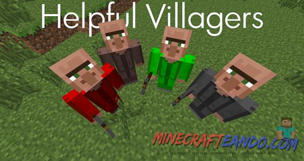 helpful villagers- minecrafteando
