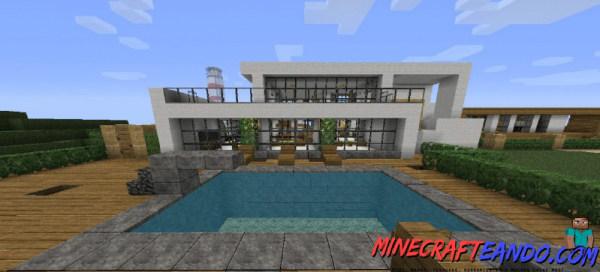 Casa moderna mapa para minecraft 1 8 1 for Como aser una casa moderna y grande en minecraft