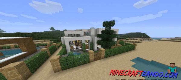 Casa moderna mapa para minecraft 1 8 1 for Casa moderna gigante minecraft