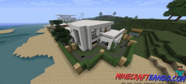 Casa moderna mapa para minecraft 1 8 1 for Casa moderna 1 11 2
