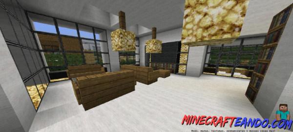 Casa moderna mapa para minecraft 1 8 1 for Casa modernas x dentro