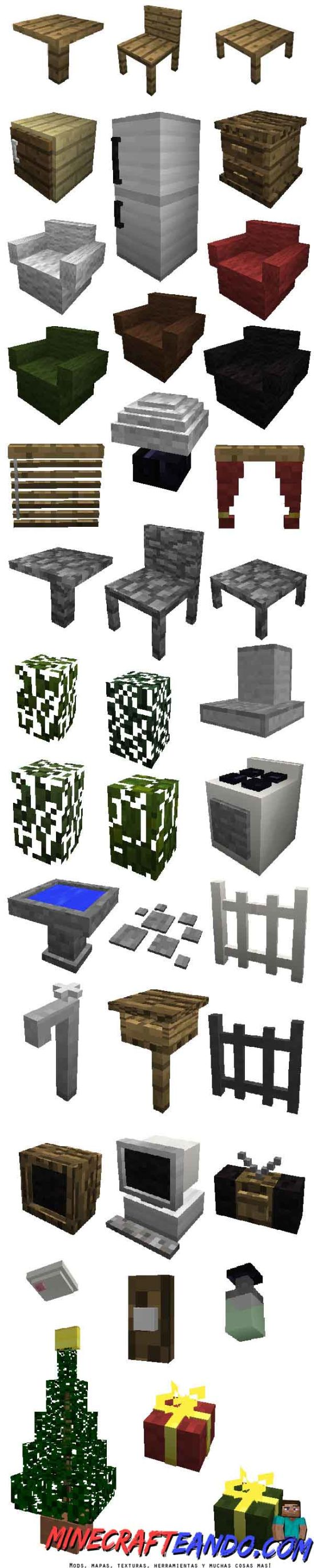 MrCrayfish`s Furniture Mod para Minecraft Descargar e Instalar-2