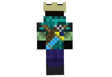 Rey Zombie Steve Skin Para Minecraft Minecrafteando Mods Para - Skin para minecraft pe rey