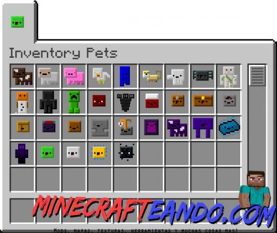 Inventory Pets Mod para Minecraft 1.7.10   Minecrafteando ...