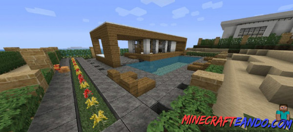 Casa moderna mapa para minecraft 1 8 1 for Casa moderna 9 mirote y blancana