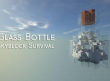 Botella de vidrio Miniatura del mapa de supervivencia de Skyblock