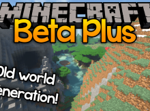 Mod Beta Plus para el logotipo de Minecraft