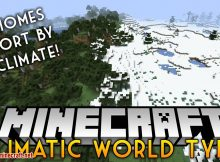 Mod Climatic World Type para el logotipo de Minecraft