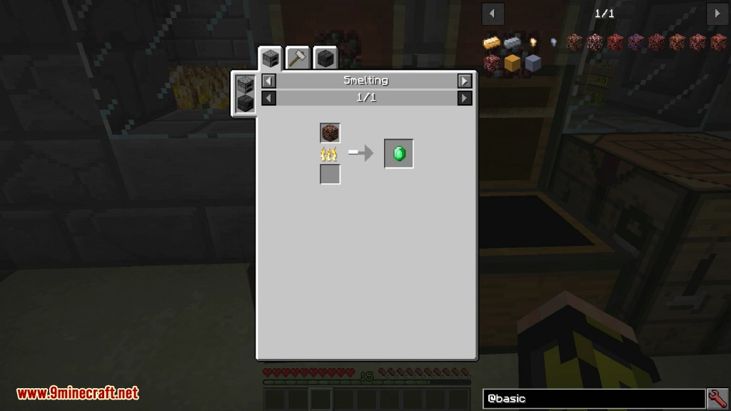 Recetas básicas de elaboración de mods de Minerales abisales 1
