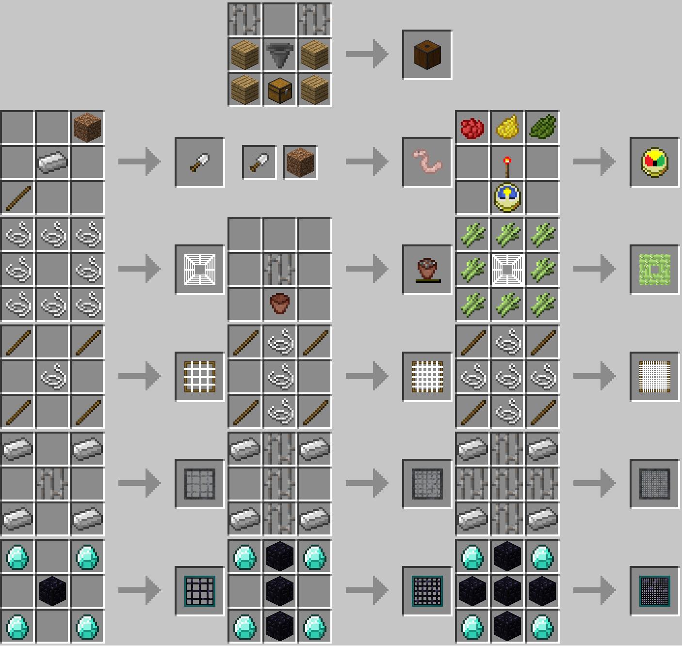 Colador de agua Mod Crafting Recetas 1
