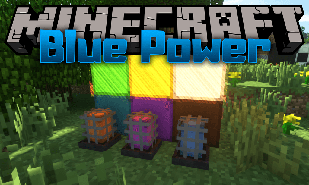 Mod Blue Power para el logotipo de Minecraft
