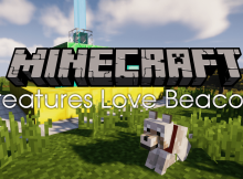 Mod de Creatures Love Beacons para el logotipo de Minecraft