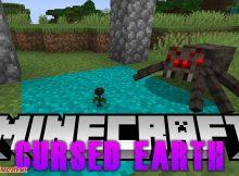 Mod de la Tierra Maldita para el logotipo de Minecraft