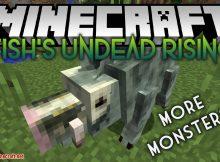 Fish_s Undead Rising mod para el logotipo de Minecraft