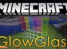 Mod Glowglass para el logotipo de Minecraft