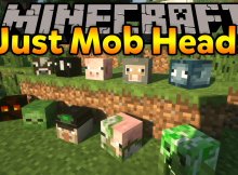Just Mob Heads mod para el logotipo de Minecraft