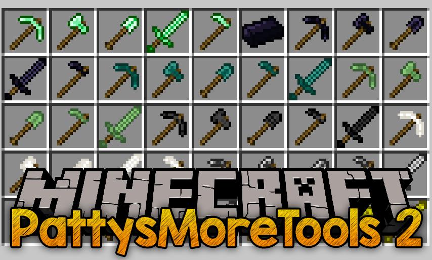 PattysMoreTools 2 mod para el logotipo de minecraft