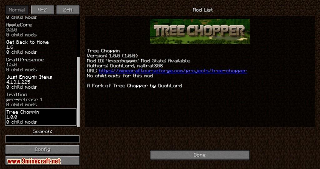 Tree Choppin mod para minecraft 01