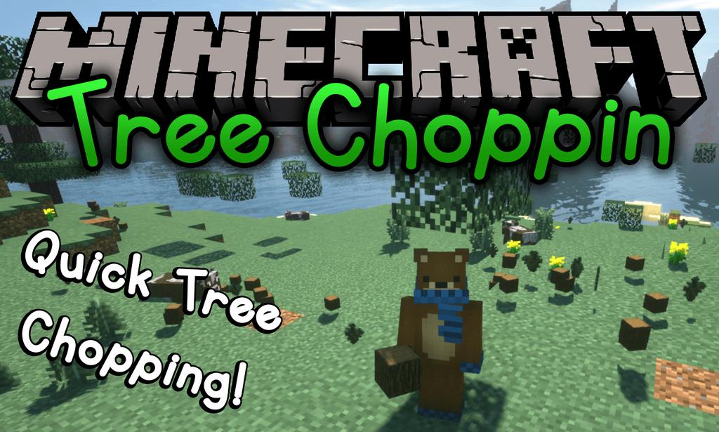 Mod Tree Choppin para el logotipo de Minecraft
