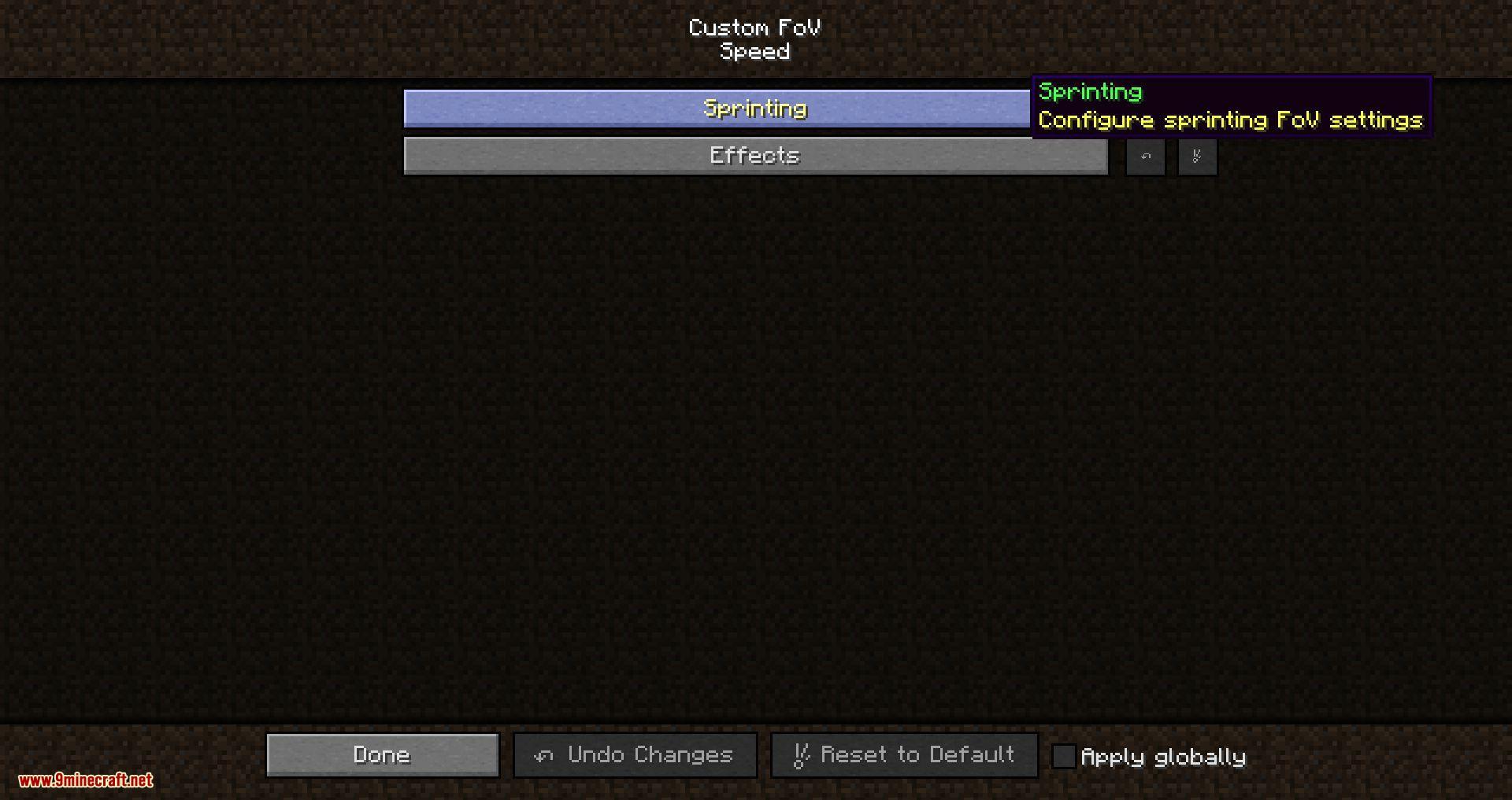 Mod FOV personalizado para Minecraft 03
