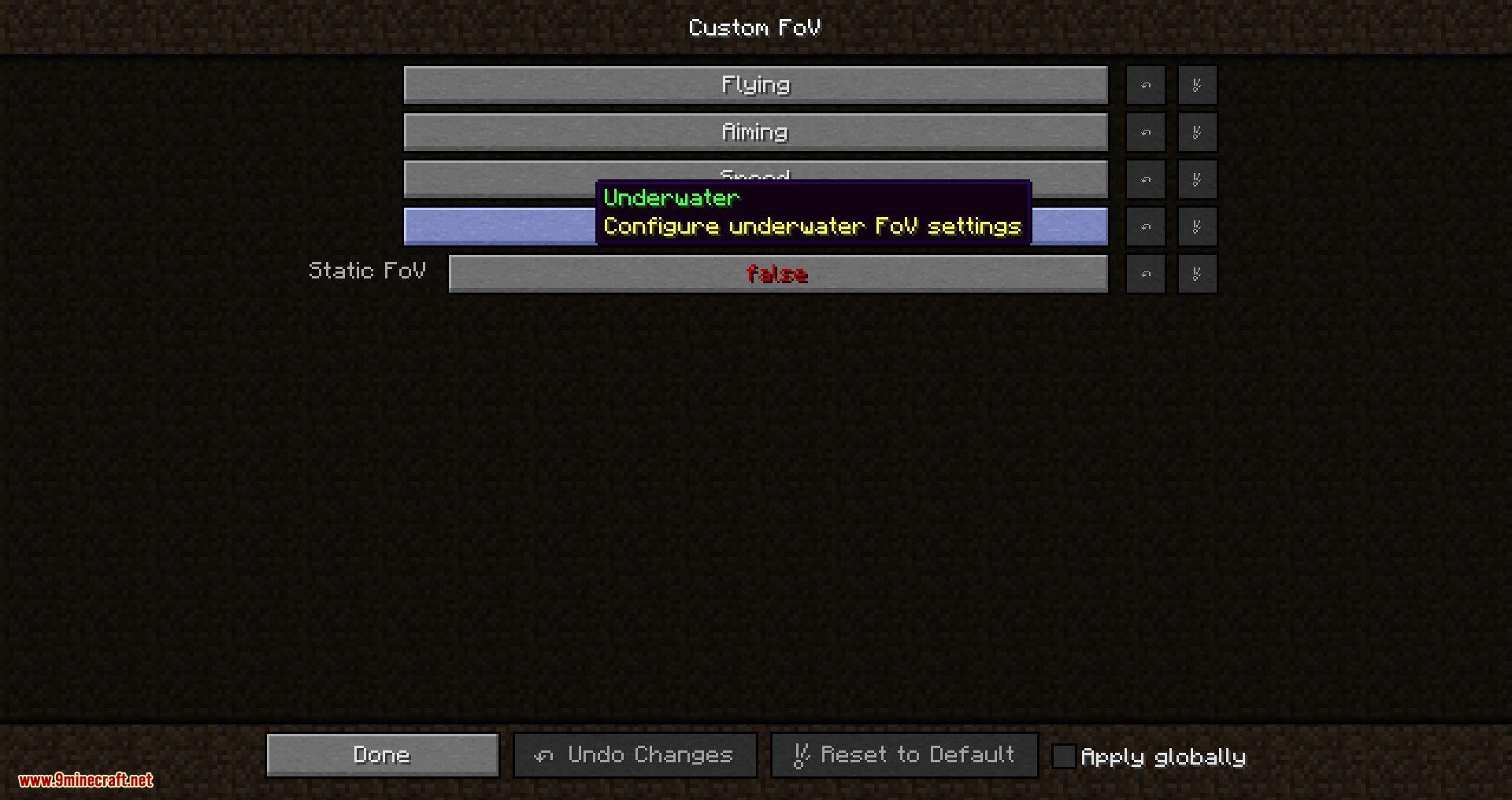 Mod FOV personalizado para Minecraft 01