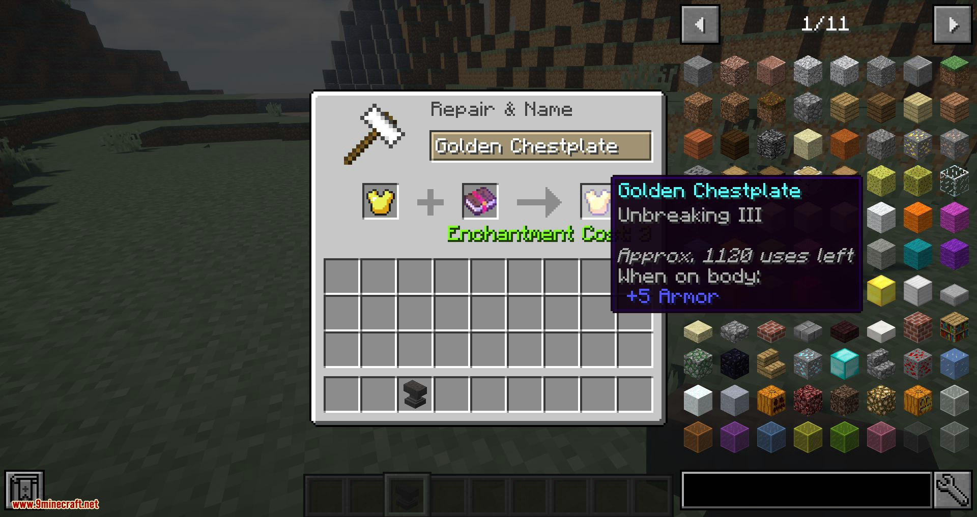 Elementos no rompan mod para minecraft 03