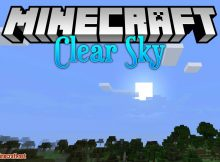 Mod Clear Skies para el logotipo de Minecraft