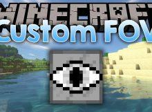 Mod FOV personalizado para el logotipo de Minecraft