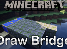 Draw Bridge mod para el logotipo de Minecraft