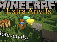 Mod de Yunques extra para el logotipo de Minecraft