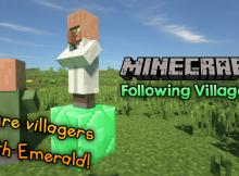 Siguiendo el mod de Villagers para el logotipo de Minecraft