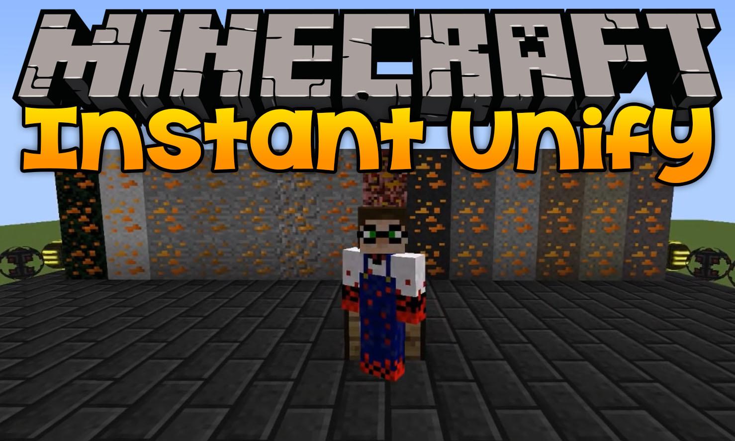 Modificación instantánea de Unify para el logotipo de Minecraft