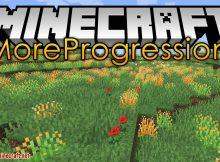 Más Mod de progresión para el logotipo de Minecraft