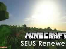 Shaders renovados de SEUS para el logotipo de Minecraft