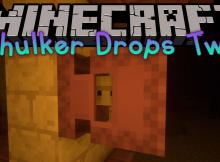 Shulker Drops Two mod para el logotipo de Minecraft
