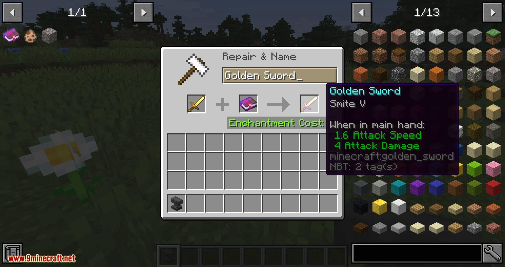 Mod Tweaks de yunque para minecraft 03