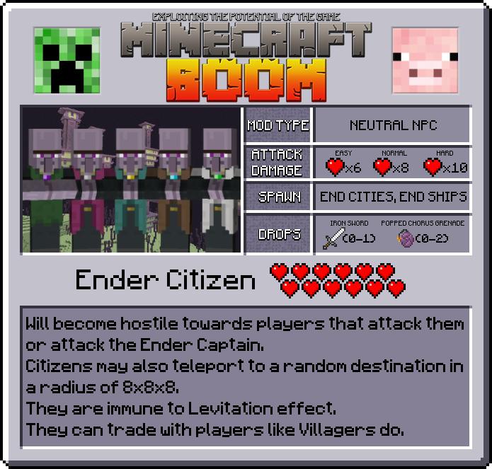 Características de Minecraft Boom Mod 1