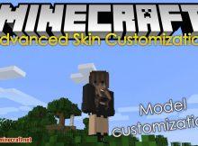 Mod de personalización avanzada de la piel para el logotipo de Minecraft