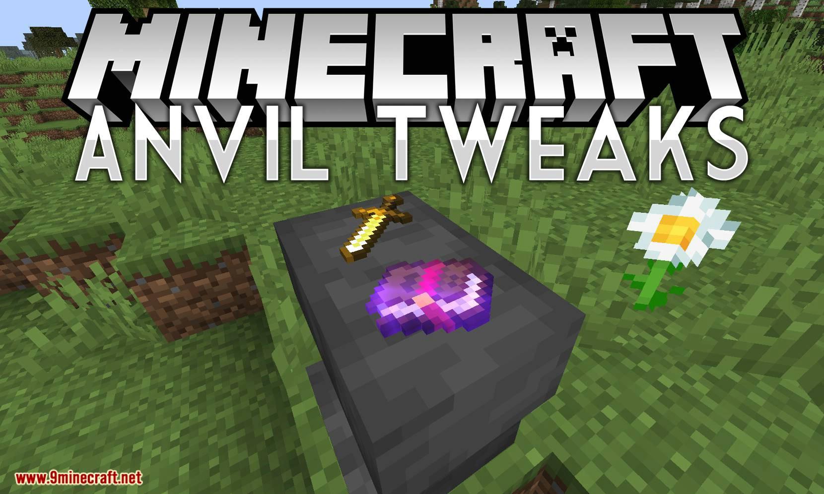 Mod de ajustes de yunque para el logotipo de Minecraft