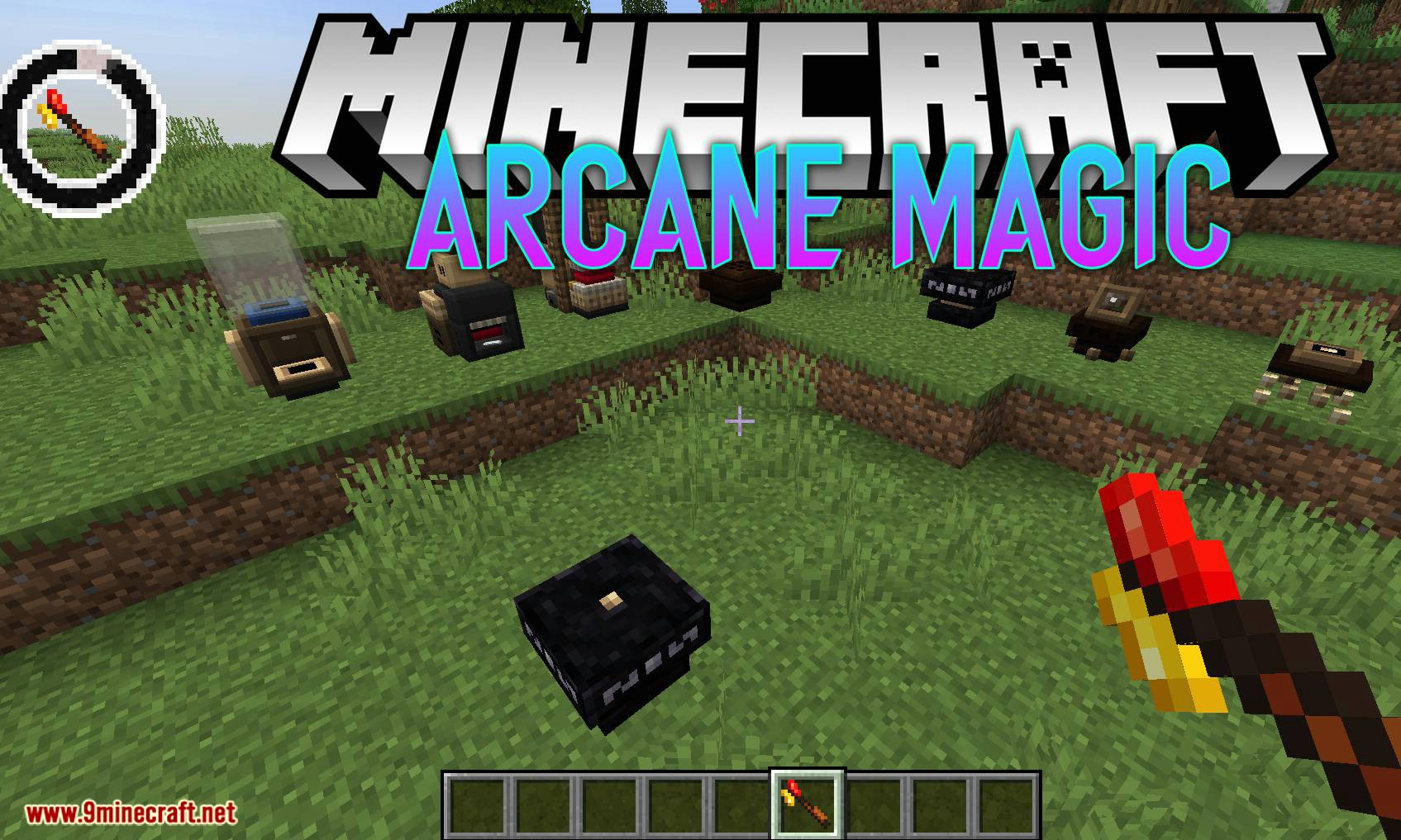 Arcane Magic mod para el logotipo de Minecraft