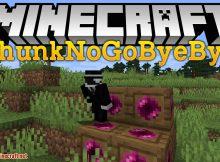 Mod ChunkNoGoByeBye para el logotipo de Minecraft