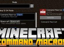 Command Macros mod para el logotipo de Minecraft