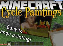 Mod de pinturas de ciclo para el logotipo de minecraft