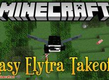 Mod Easy Elytra Takeoff para el logotipo de Minecraft