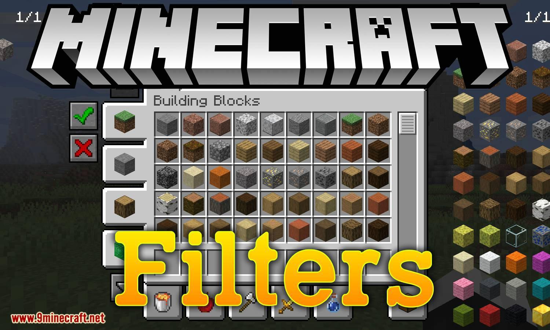 Filtros mod para logotipo de minecraft