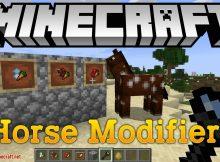 Modificadores de caballo mod para el logotipo de minecraft