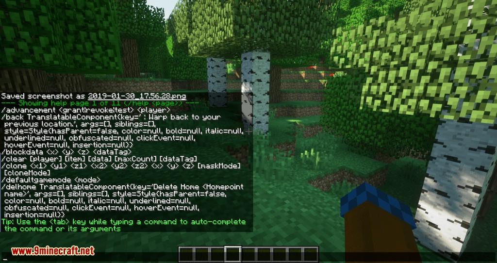 Mod Mycommands para Minecraft 04