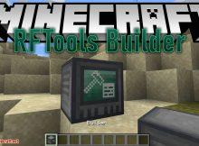 Mod de RFTools Builder para el logotipo de Minecraft