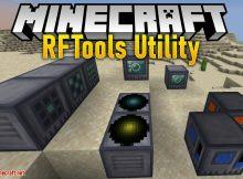 Mod de utilidad RFTools para el logotipo de Minecraft
